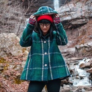 BB Dakota green plaid jacket